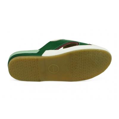 รองเท้าแตะ EXSKF-86 หนังปั่นนิ่มขาว-นิ่มแดงเลือดหมู-เขียว-กลับฟ้าอ่อน