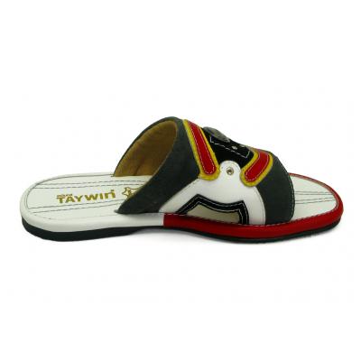 รองเท้าแตะ EXSKF-87 หนังกลับเทาแก่-ดำ-นิ่มขาว-แดง-เหลือง