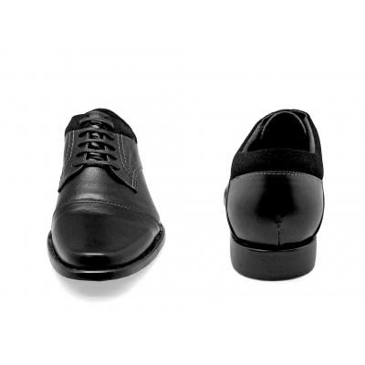 รองเท้าคัทชู FA-95 หนังนิ่มดำ-หนังกลับดำ