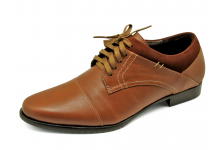 Men Lace Ups FA-95 Tan Antique Leather-Tan Suede