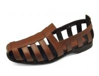 รองเท้าคัทชู FC-10 หนังออยล์ตาลอ่อน