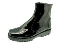 ลด 50% รองเท้าบูท FD-16 หนังแกะแก้วดำนอก