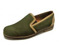 ลด 50% รองเท้าคัทชู HFB-05 หนังกลับเขียว-นิ่มครีม2