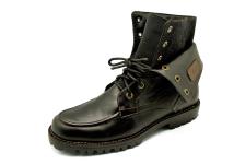 Men Boots HFD-05 Black Antique Leather