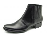 รองเท้าบูท HFD-07 หนังนิ่มดำ