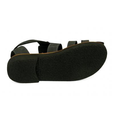 รองเท้าแตะ HFT-01 หนังกลับเทาแก่