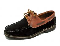 ลด 50% รองเท้าคัทชู HMC-09 หนังกลับดำ/นิ่มแทน