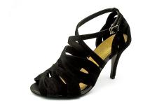 Women Courts High Heel HSC-55 Black Suede