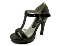 ลด 50% รองเท้าคัทชูส้นสูง HSC-57 หนังนิ่มดำ-แกะแก้วดำนอก