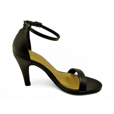รองเท้าแตะส้นสูง HSC-60 หนังนิ่มดำ