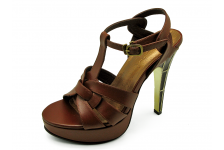 Women Sandals HSC-63 Brown Sheep Leather