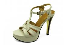 Women Sandals HSC-63 White Nappa