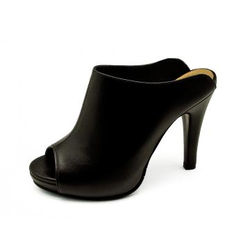 รองเท้าแตะส้นสูง HSC-64 หนังนิ่มดำ