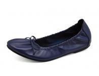 ลด 50% รองเท้าคัทชูส้นเตี้ย HSC-72 หนังนิ่มน้ำเงิน