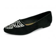 ลด 50% รองเท้าคัทชูส้นเตี้ย HSC-75 หนังกลับดำ
