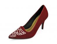 ลด 50% รองเท้าคัทชูส้นสูง HSC-76 หนังกลับแดง