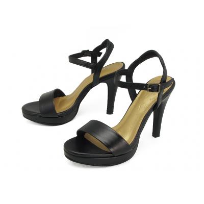 รองเท้าแตะส้นสูง HSC-85 หนังนิ่มดำ