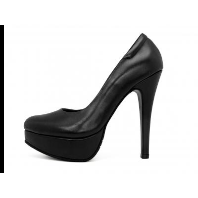 รองเท้าคัทชูส้นสูง HSC-86 หนังนิ่มดำ