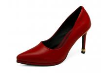 รองเท้าคัทชูส้นสูง HSC-89 หนังนิ่มแดง