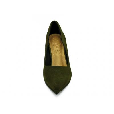 รองเท้าคัทชูส้นสูง HSC-89 หนังกลับเขียว