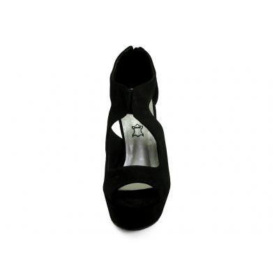 รองเท้าแตะ HSC-91 หนังกลับดำ-นิ่มดำ