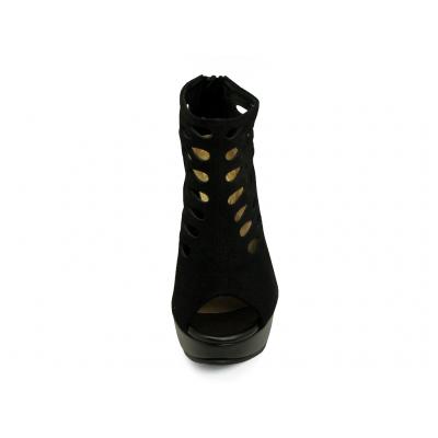 รองเท้าคัทชูส้นสูง HSC-92 หนังกลับดำ