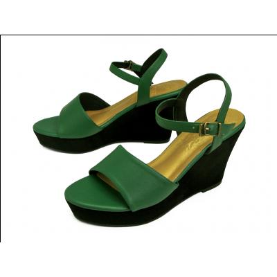 รองเท้าแตะ HSC-93 หนังนิ่มเขียวสด