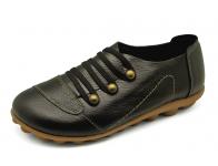 รองเท้าลำลอง HSF-26 หนังปั่นนิ่มดำ