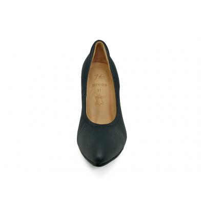 รองเท้าคัทชูส้นสูง HSV-23 หนังชามัวสีกรมท่า