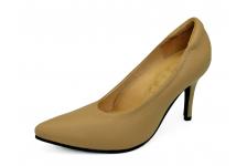 รองเท้าคัทชูส้นสูง HSV-23 หนังชามัวสีเนื้อ