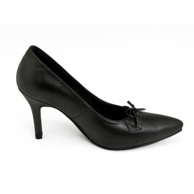 รองเท้าคัทชูส้นสูง HSV-25 หนังนิ่มดำ