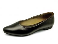 รองเท้าคัทชูส้นเตี้ย LC-30 หนังนิ่มดำ