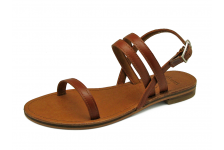 Women Sandals LS-09 Tan Leather