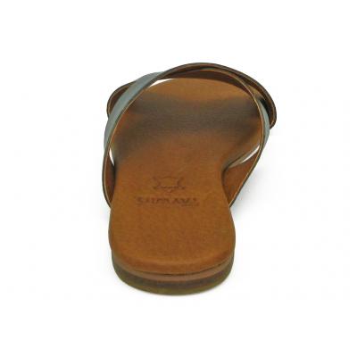 รองเท้าแตะ LS-10 หนังเมทัลลิคเทาดำ