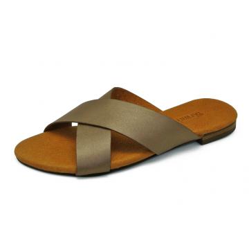 รองเท้าแตะ LS-10 หนังนิ่มตาล(L)