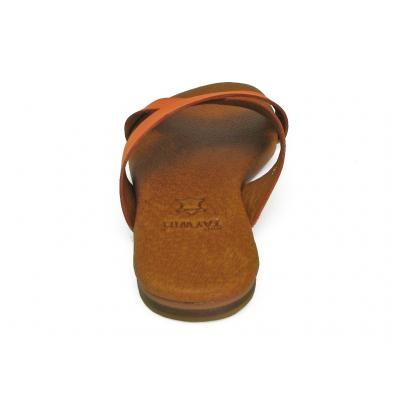 รองเท้าแตะ LS-10 หนังนิ่มส้ม