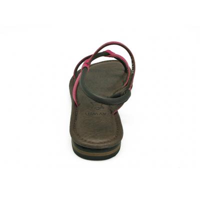 รองเท้าแตะ LS-11 หนังนิ่มบานเย็น-หนังวัวตาลแก่