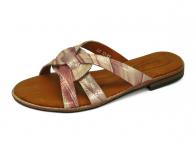 ลด 50% รองเท้าแตะส้นเตี้ย LS-12 หนังPUลายงูชมพู
