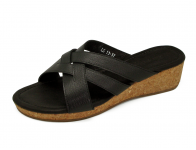 ลด 50% รองเท้าแตะ LS-13 หนังแพะปั่นนิ่มดำ