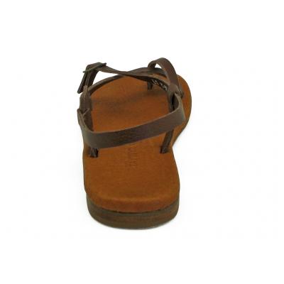 รองเท้าแตะ LS-15 หนังนิ่มตาลแก่