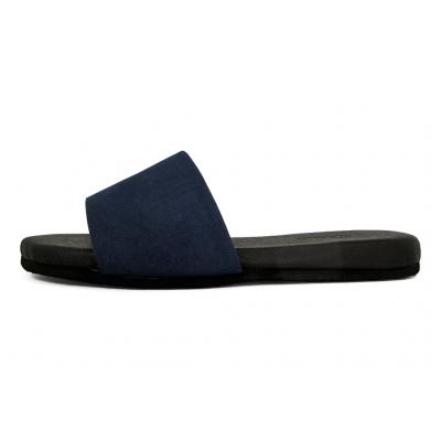 รองเท้าแตะส้นเตี้ย LS-16 หนังไมโครไฟเบอร์กลับกรมท่า