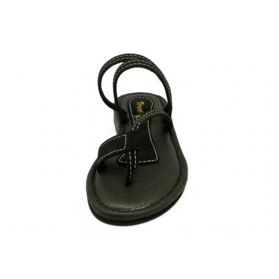 รองเท้าแตะ LS-18 หนังกลับดำ