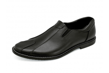 รองเท้าคัทชู MN-01 หนังนิ่มดำ