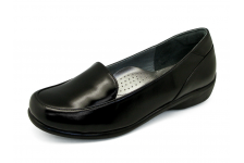 รองเท้าคัทชูส้นเตี้ย SB-04 หนังนิ่มดำ