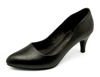 รองเท้าคัทชู SC-32 หนังนิ่มดำ