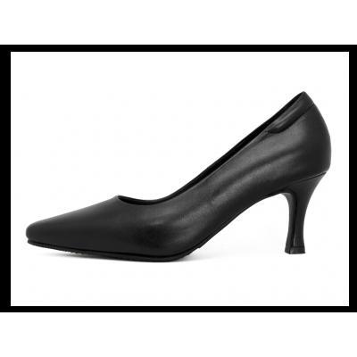 รองเท้าคัทชู SC-66 หนังนิ่มดำ