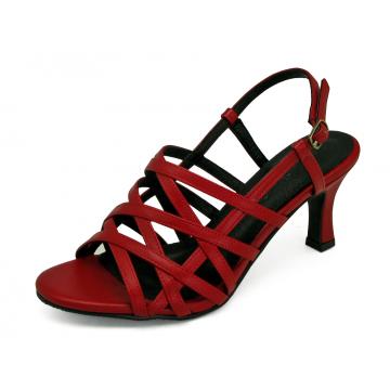 รองเท้าแตะ SC-69 หนังนิ่มแดง