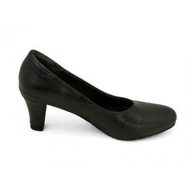 รองเท้าคัทชู SC-70 หนังไมโครไฟเบอร์นิ่มดำ