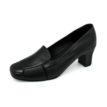 รองเท้าคัทชู SC-71 หนังนิ่มดำ