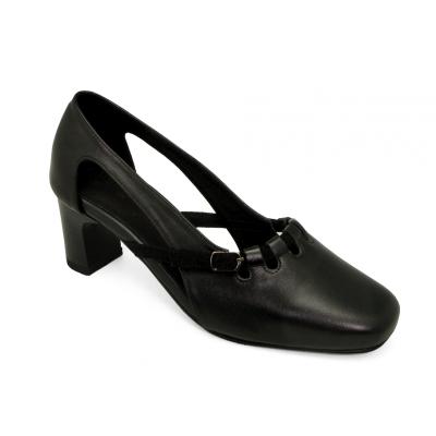 รองเท้าคัทชู SC-72 หนังนิ่มดำ-กลับดำ